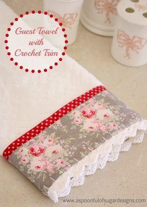 Tutorial de costura libre para una toalla Invitado ganchillo Recortar Tutorial Una cucharada de azúcar
