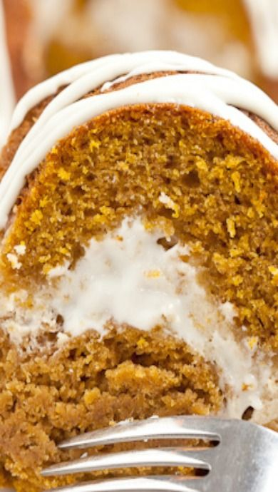 Pumpkin Cream Cheese Bundt Cake | pumpkin desserts, recipes, gooey ...