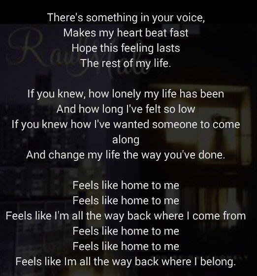 feels like home lyrics