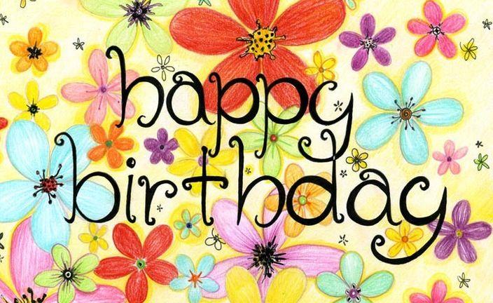 Открытки happy birthday женщине красивые английские с цветами 42