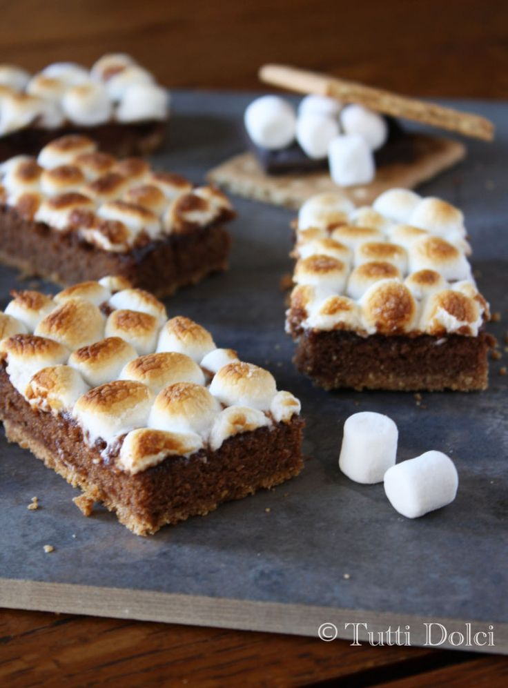 mores Bars - the perfect summer send off, a three-layer bar topped ...