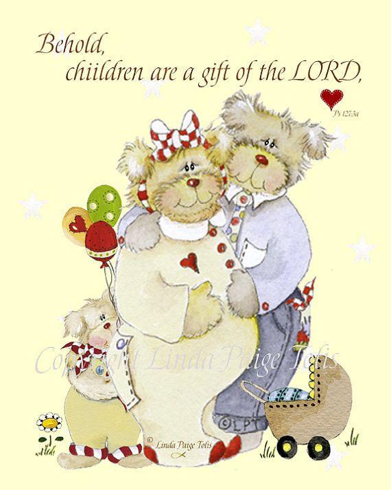 Christian art print by linda paige tolis bible verse kids wall art