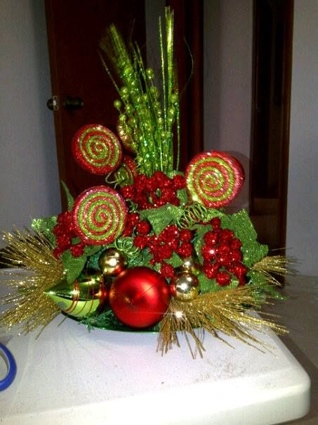 Navidad mis centros de mesas de todo un poco pinterest for Centro mesa navidad