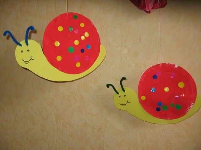 Escargot brico kids animaux pinterest - Activite manuelle assiette en carton ...