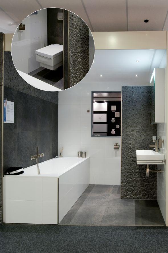 20170407 084830 badkamer wit en grijs - Eigentijdse badkamer grijs ...