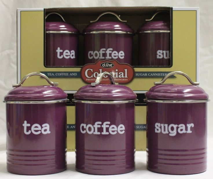 purple canisters kitchen pinterest