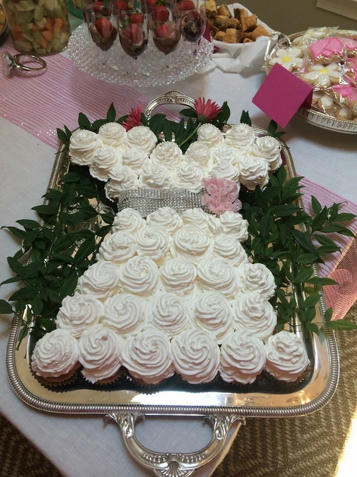 bridal shower cupcake cake wedding ideas pinterest. Black Bedroom Furniture Sets. Home Design Ideas