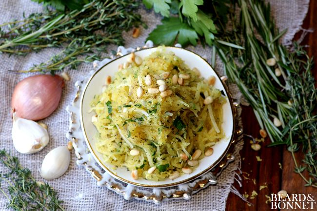 Roasted Spaghetti Squash with Herbs {Beard and Bonnet} #glutenfree # ...