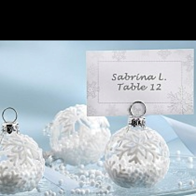 ornament wedding favor and place setter wedding fun pinterest