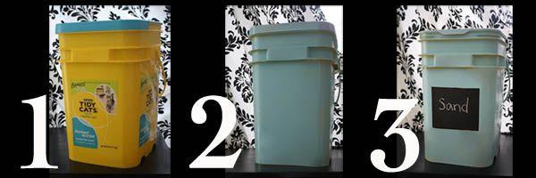 repurpose cat litter buckets