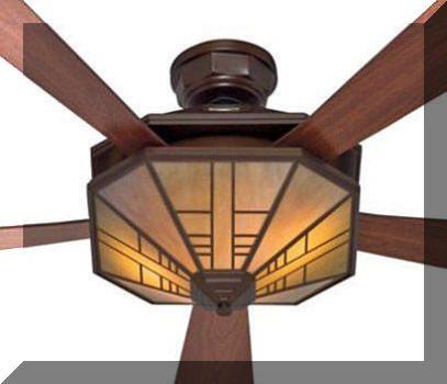 nice mission style ceiling fan hunter bat arts crafts. Black Bedroom Furniture Sets. Home Design Ideas