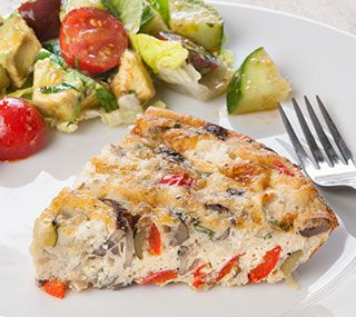 Thrifty Foods - Recipe - Crustless Quiche with Roasted Vegetables