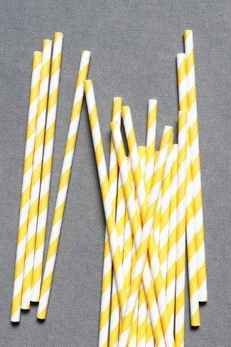 Cute multi-colored straws from BHLDN--would be cute in mason jars for summer/outdoor parties