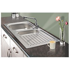 Screwfix Franke Sink : Franke Kitchen Sink & Tap Stainless Steel 1? Bowl & Drainer 965 x ...