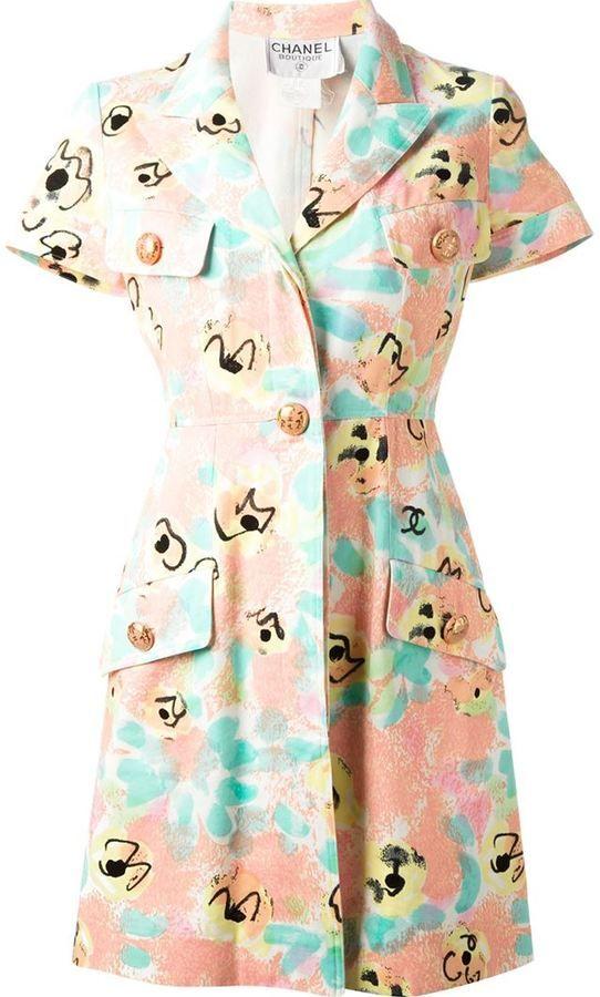 Chanel Vintage floral print dress