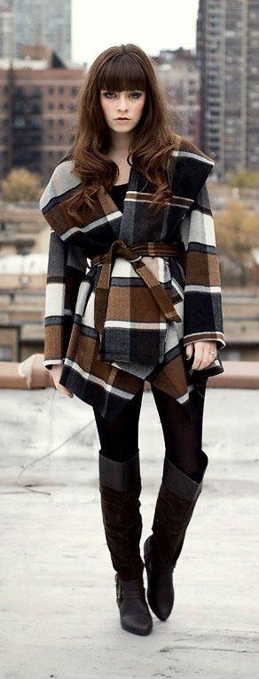Fall favorites: Plaid coat