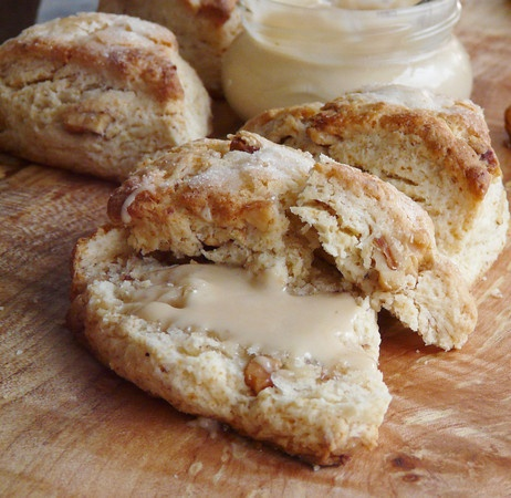 Lavender And Toasted Walnut Scones Recipe — Dishmaps