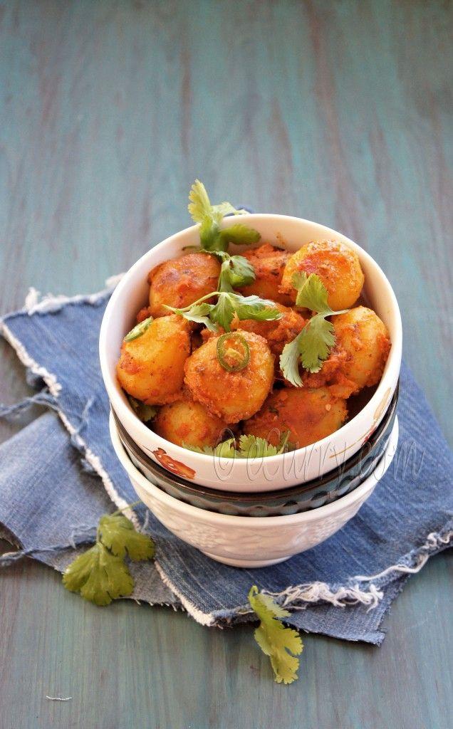 Niramish Dum Aloo: Spice Coated Baby Potatoes