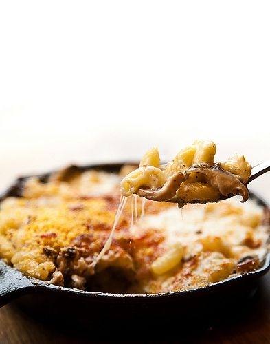 Mac & Cheese: Brie cheese, Roasted Figs, Roasted Shiitake Mushrooms ...