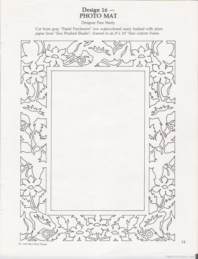 photo mat papercut