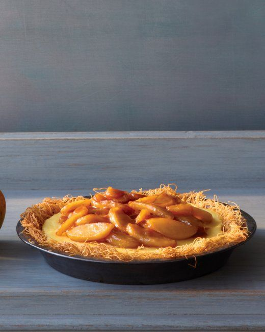 Apple Custard Pie -Don't be intimidated by the kataifi. It's easy to ...