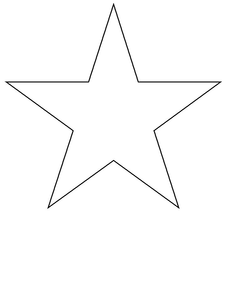 This is an image of Accomplished Star Stencil Printable