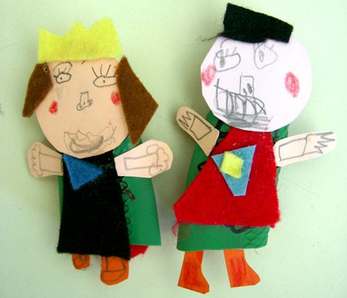 Rubber glove finger puppet!!!!