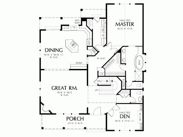 Country Open Floor Plan Home Floor Plans Pinterest
