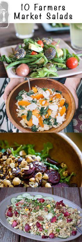 10 Farmers Market Salad Recipes   Healthy Food   Pinterest