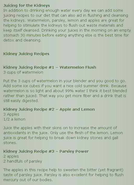 Kidney Protector Juices --  Heal and protect your kidneys the right way with the help of juicing. These 3 simple recipes helps in cleaning and detoxing the kidneys for healthier functional kidneys. Don't forget to SHARE this to your loved ones