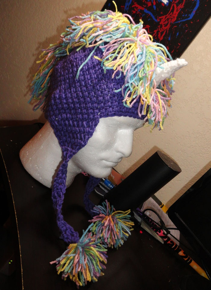 Crochet Pattern For A Unicorn Hat : Crochet Unicorn hat Craft Ideas Pinterest