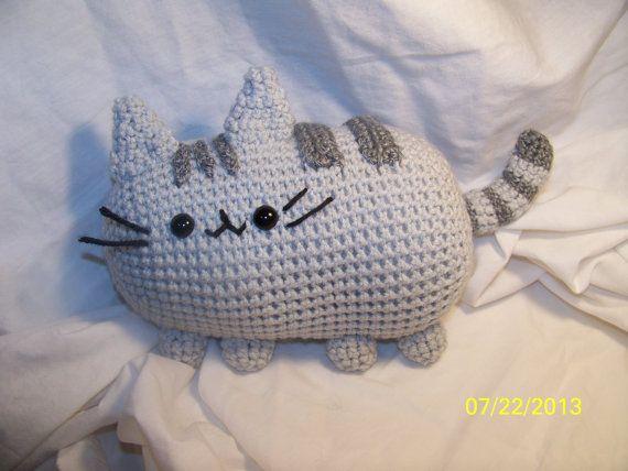 Amigurumi De Pusheen : Crochet Pusheen cat Can be made in the sitting up position