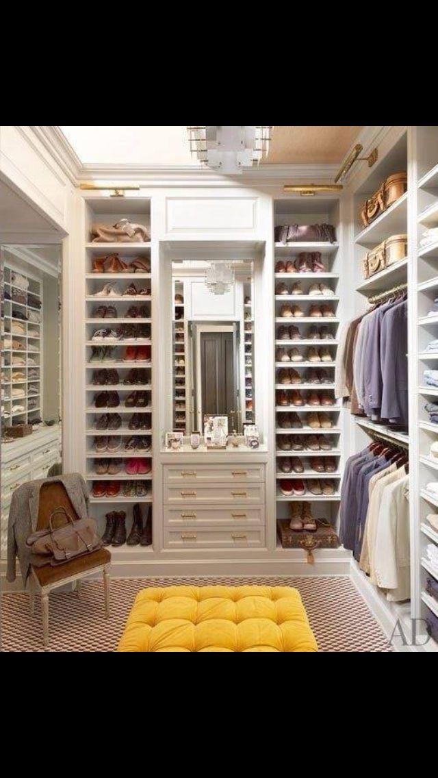Custom Walk In Closet Design Home Pinterest