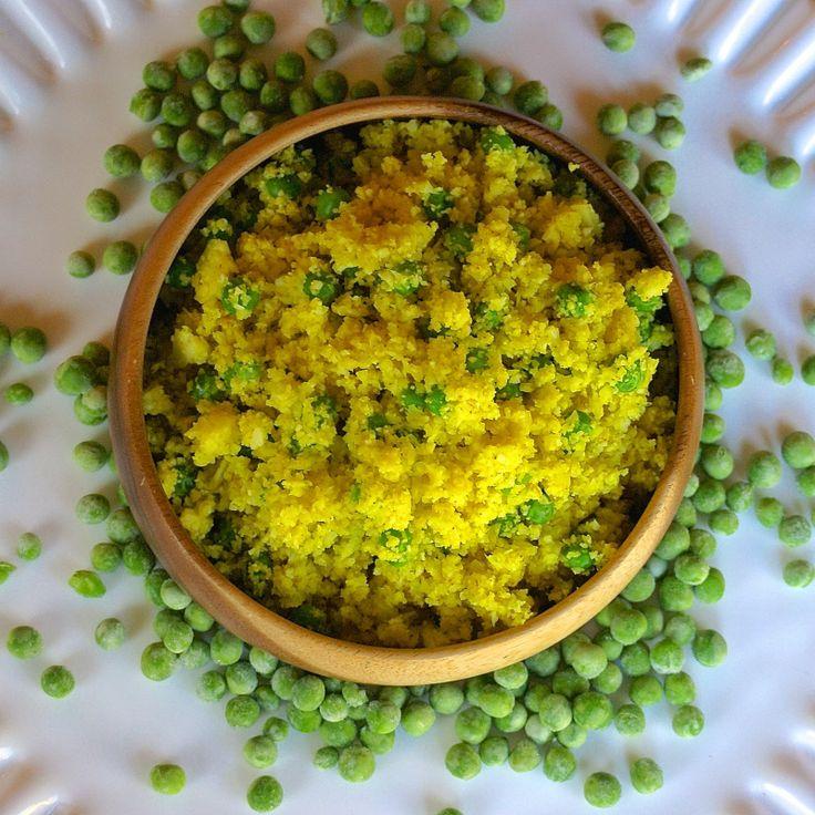 Lemon and Sweet Pea Cauliflower Rice | veggies | Pinterest