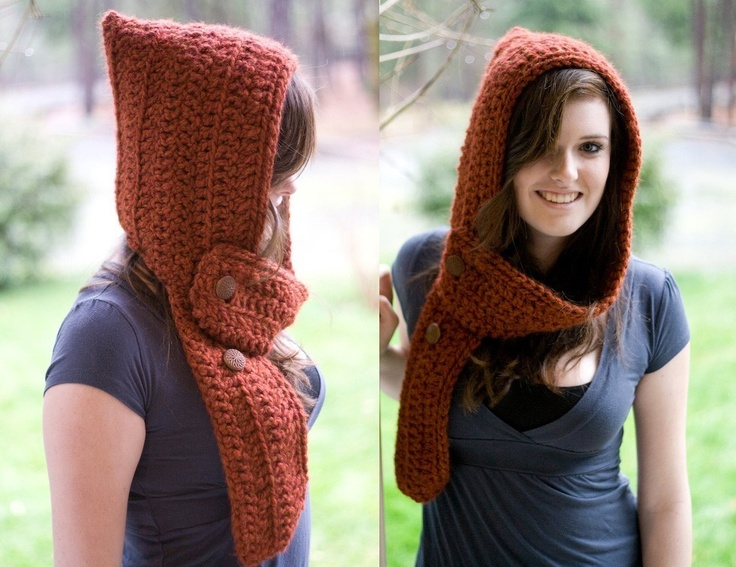 Scoodie Knitting Pattern Free : Hand crochet custom Mini Scoodie (hooded scarf)