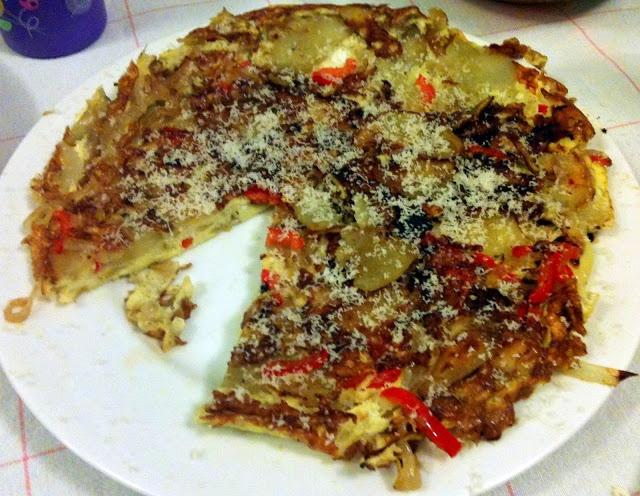 Potato, Red Pepper, and Onion Frittata (Frittata di Patate, Peperone e ...
