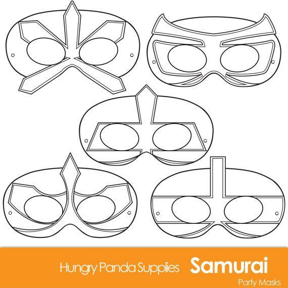 Samurai Printable Coloring Masks Mask Paper