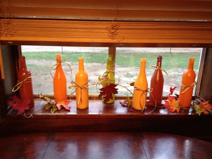Fall window decor holiday decor crafts pinterest for Autumn window decoration