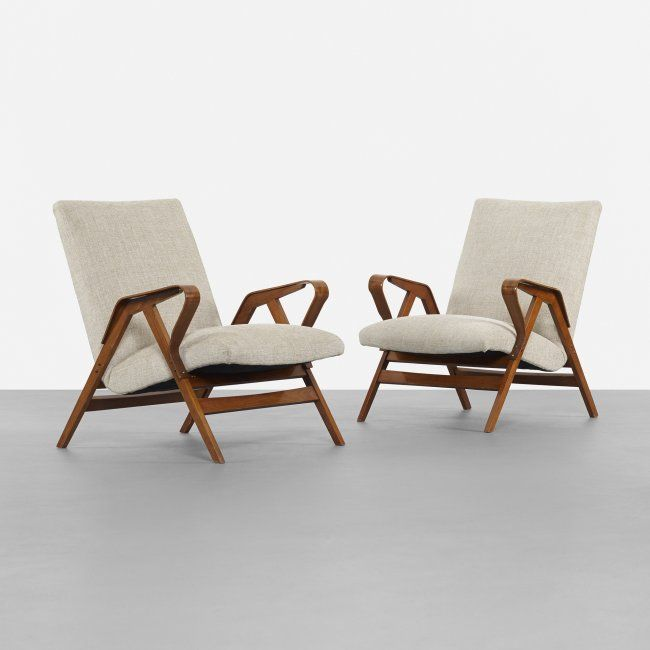 auctions pair lounge chairs manner parisi