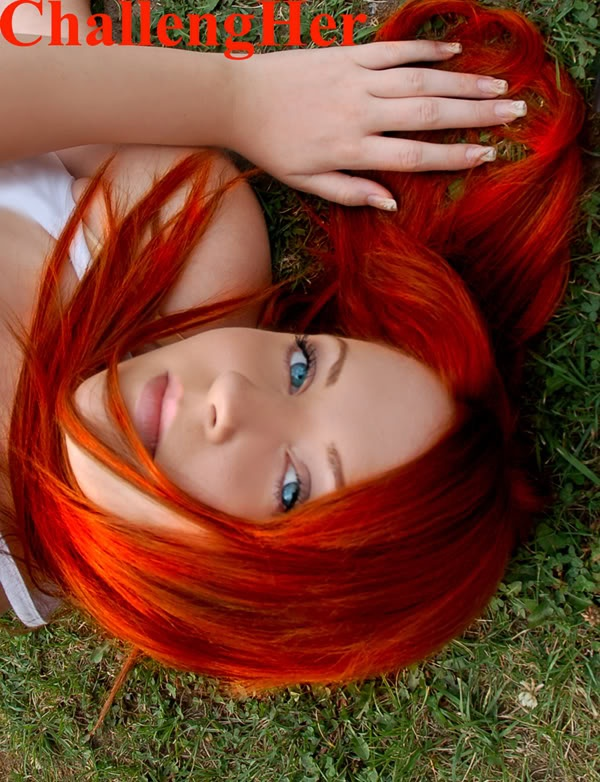 i will color my hair like this someday...if my blonde hair turns brown. go orange!