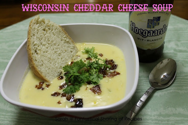 Wisconsin Cheddar Cheese Soup - a beer cheese soup that warms you to ...