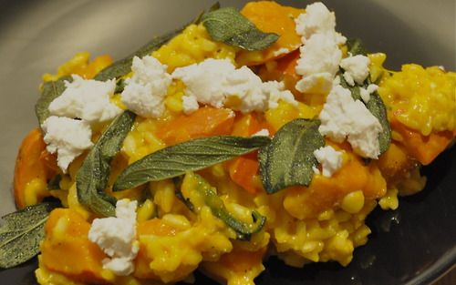 Squash Goat Cheese and Sage Risotto   Good Eats   Pinterest