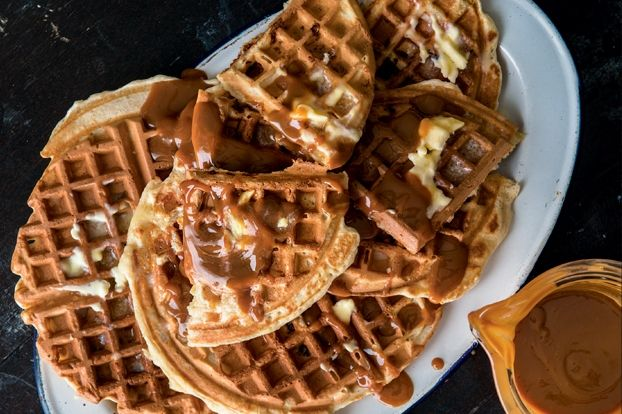Banana-Brown Butter Waffles with Dulce de Leche | Lifetime Moms