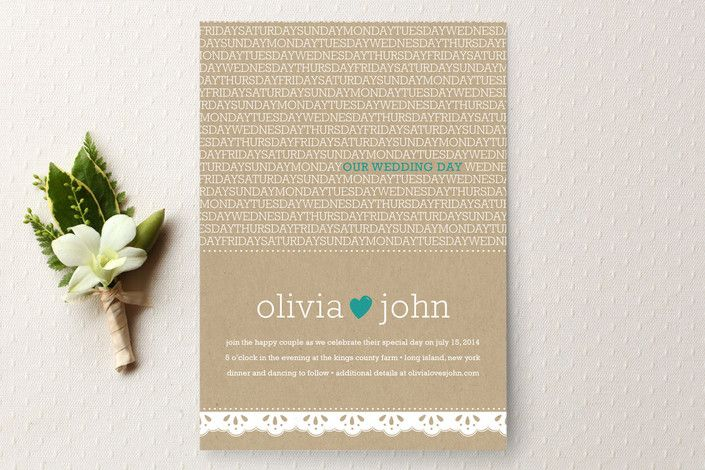 Our Wedding Day Wedding Invitations by sweet street gals at minted.com