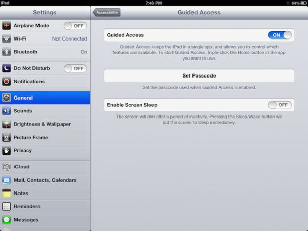 How to Limit an iOS Device to Running a Single App - Tony Vincent's - Blog @tonyvincent