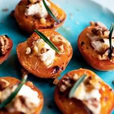Roasted Apricots with Feta, Honey, and Walnuts