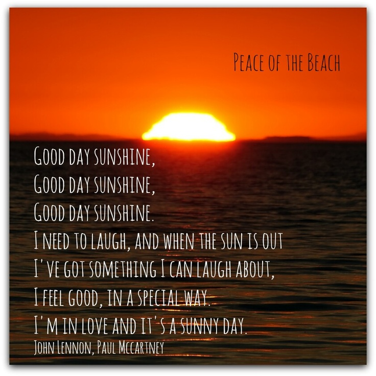 Good Day Sunshine Dailymotion : Good day sunshine hep me somebody pinterest