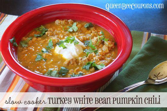 crockpot-turkey-white-bean-pumpkin-chili | Recipes ~ Crock Pot / Slow ...