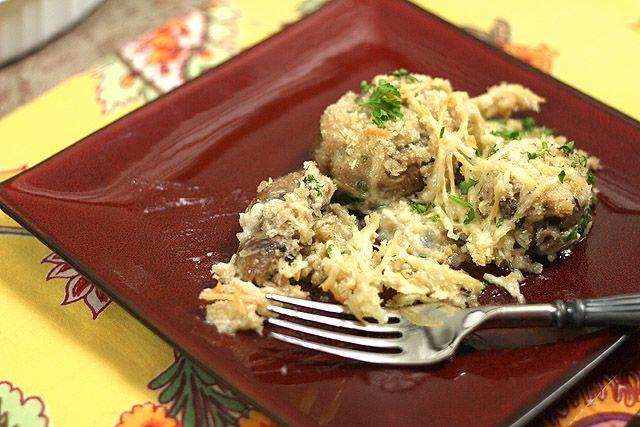 Creamy Mushrooms with Parmesan and Panko | Recipe