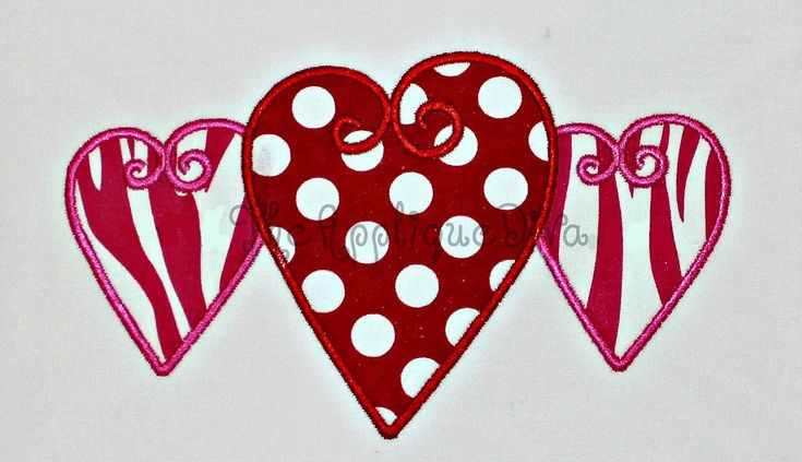 valentine's day applique designs